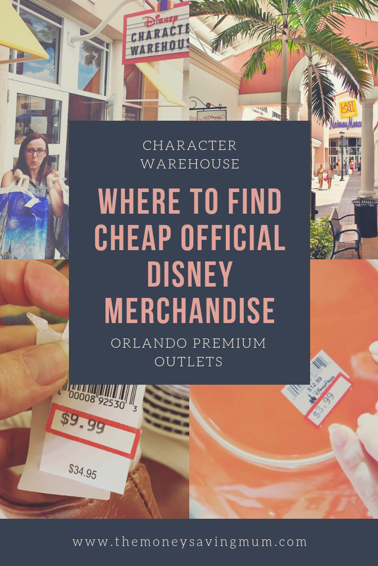 Cheap official Disney products at the Disney's Character Warehouse - Orlando Premium Outlets