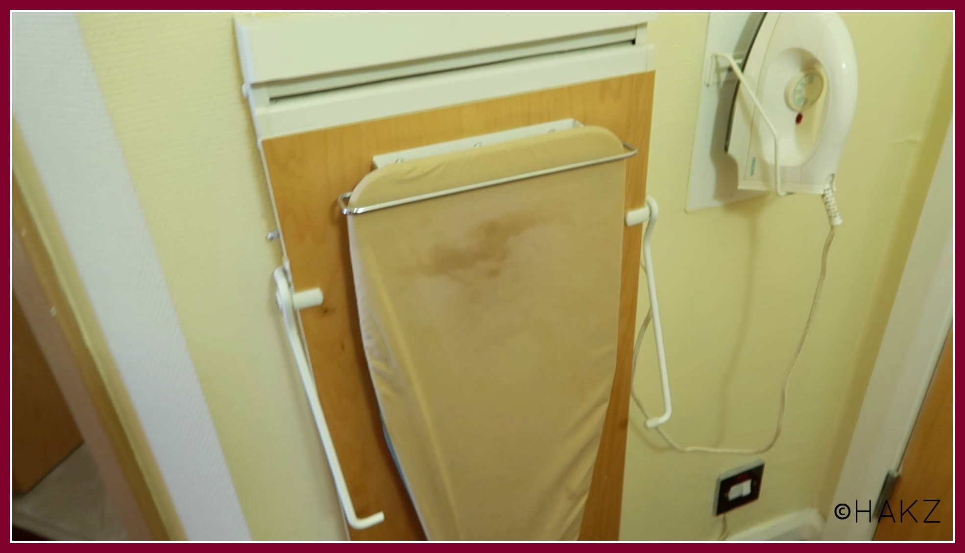 Manchester Airport hotel and parking: Clayton Hotel Manchester Airport ironing board