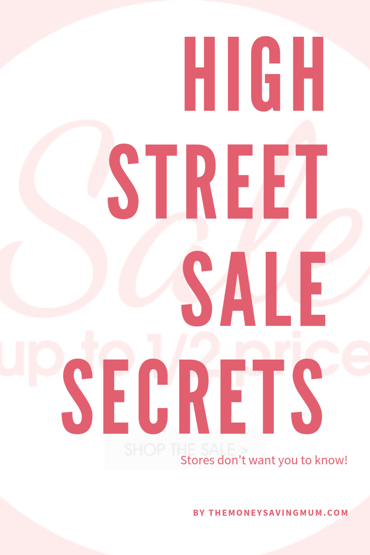high street sale secrets