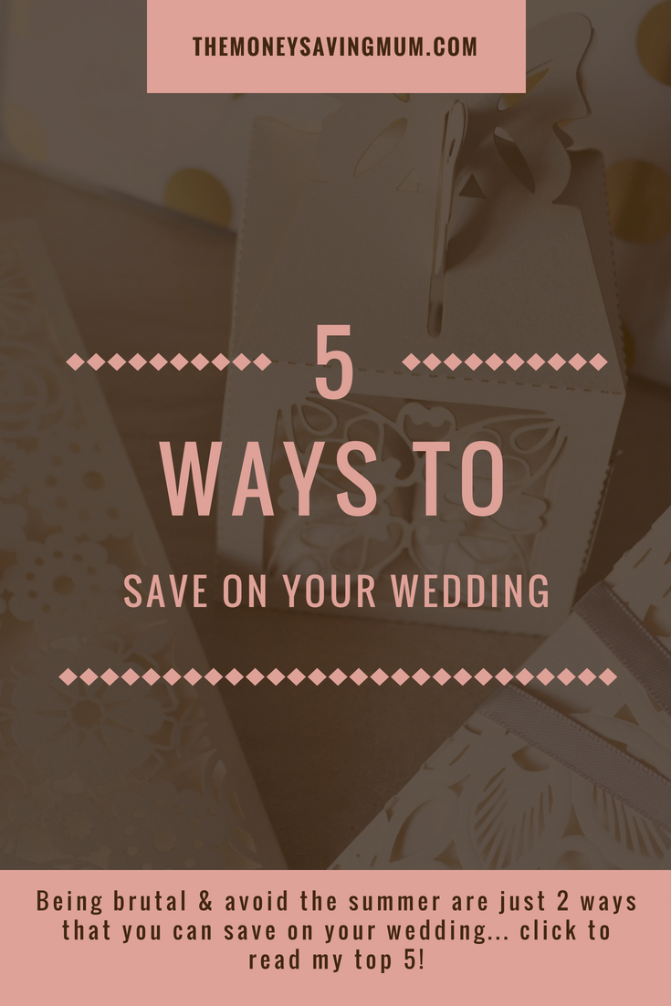 5 ways to save on your wedding