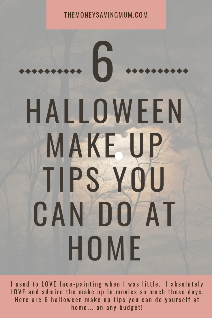 Halloween make up tips you can do yourself at home