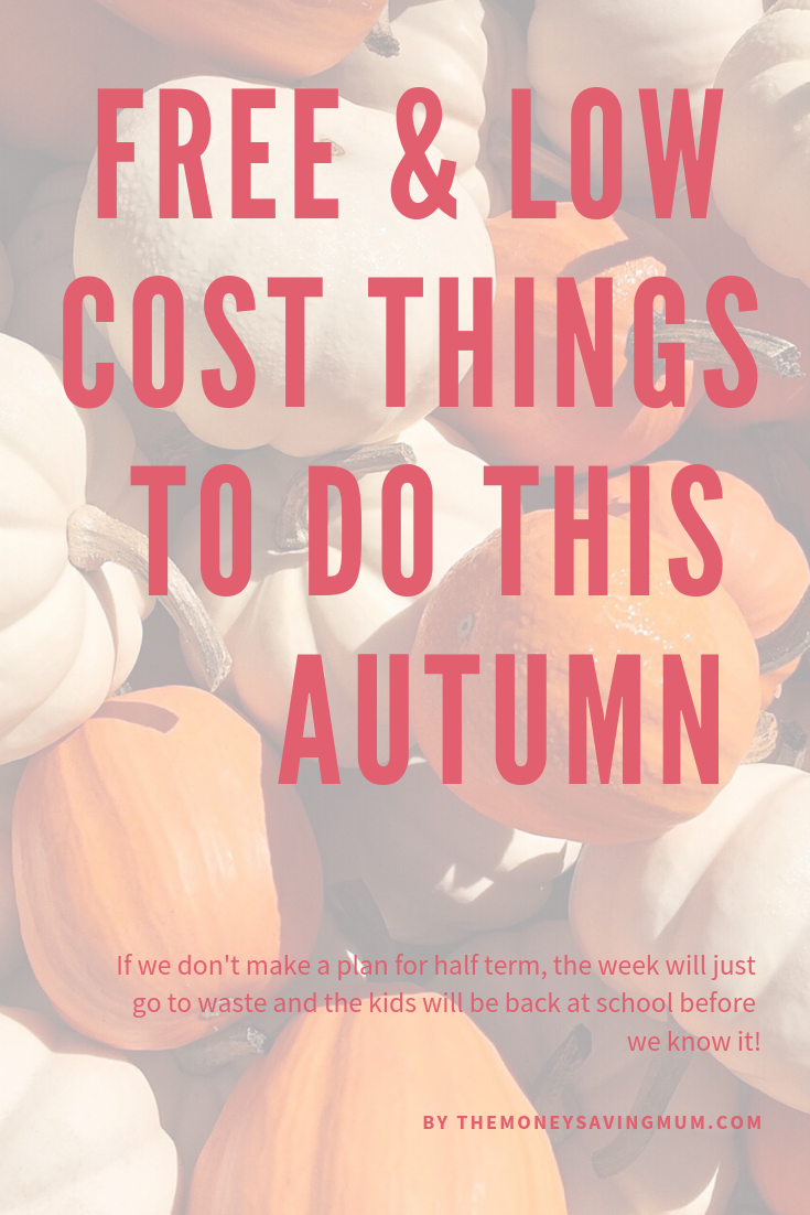 Things to do during October  half term