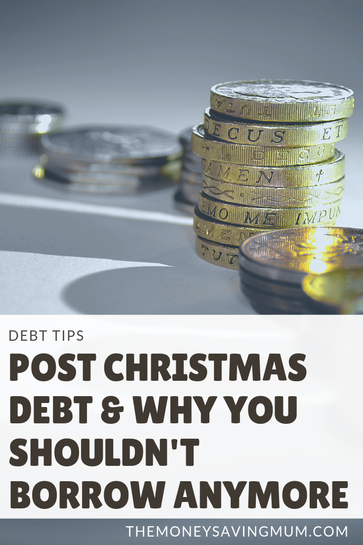 Don't borrow more to pay a credit card bill | post-christmas debt tips