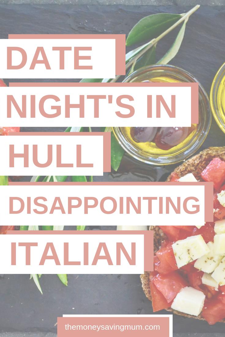 Italian restaurant Hull; Ciao Chicchetti | date night in Hull