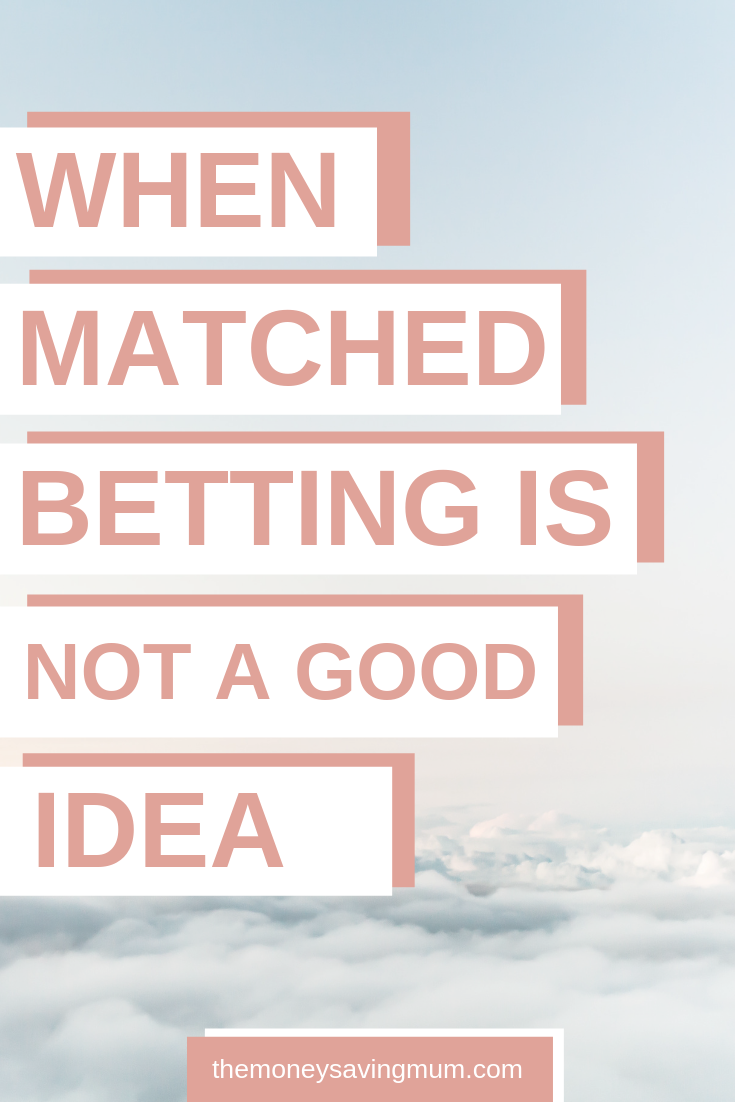 Make money online with risk free betting ... an honest review & when matched betting is NOT a good idea!