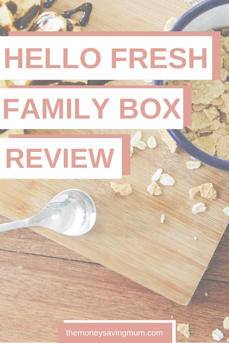 HelloFresh family box | cooking subscription box PIN